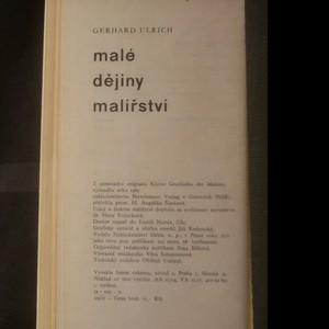 antikvární kniha Malé dějiny malířství, 1971