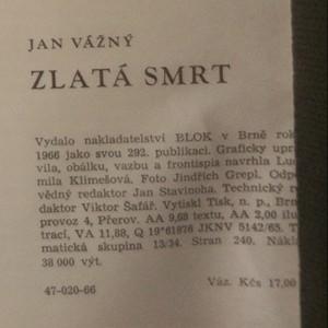 antikvární kniha Zlatá smrt, 1966