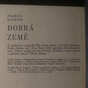 antikvární kniha Dobrá země, 1968