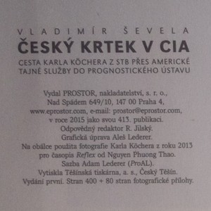antikvární kniha Český krtek v CIA, 2015