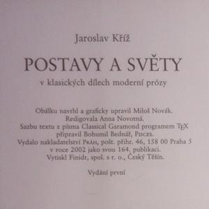 antikvární kniha Postavy a světy v klasických dílech moderní prózy, 2002