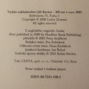 antikvární kniha Gejša, 2003