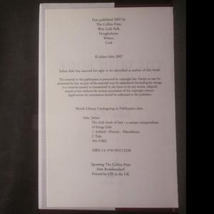 antikvární kniha The Irish Book of Lists , 2007