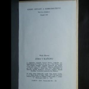 antikvární kniha Zima v kaňonu, 1978