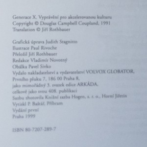 antikvární kniha Generace X. Vyprávění pro akcelerovanou kulturu, 1999