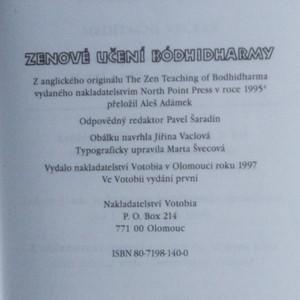 antikvární kniha Zenové učení Bódhidharmy. Dvojjazyčné česko-čínské vydání základních textů zenu, 1997