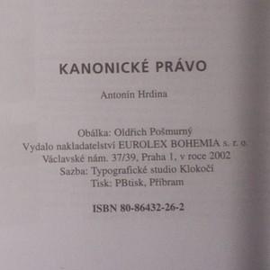 antikvární kniha Kanonické právo, 2002
