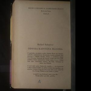 antikvární kniha Odysea kapitána Blooda, 1962