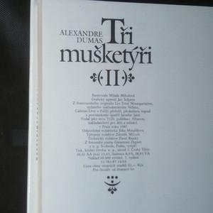 antikvární kniha Tři mušketýři 2. díl, 1987