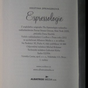 antikvární kniha Espressologie, 2012