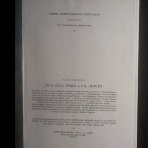 antikvární kniha Noa-Noa. Před a po. Dopisy, 1959
