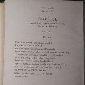 antikvární kniha Český rok v pohádkách, písních, hrách a tancích, říkadlech a hádankách. 4. díl, Zima, 1981