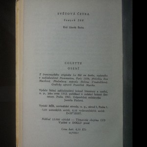 antikvární kniha Osení, 1961