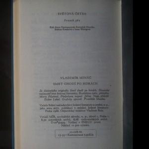 antikvární kniha Smrt chodí po horách, 1966