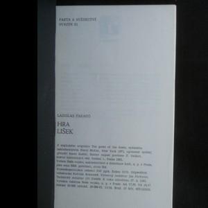 antikvární kniha Hra lišek, 1981