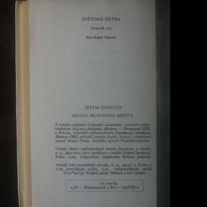 antikvární kniha Zkáza hlavního města, 1964