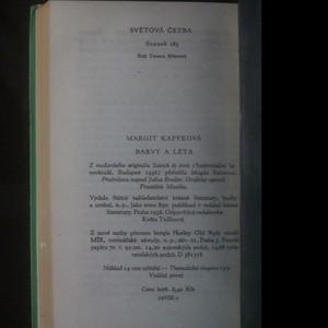 antikvární kniha Barvy a léta, 1958