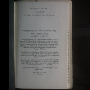 antikvární kniha Dva Ivani aneb Vášniví sudiči, 1959