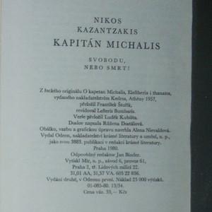 antikvární kniha Kapitán Michalis, 1980