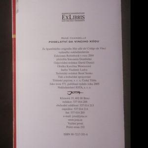 antikvární kniha Poselství Da Vinciho kódu. Rozluštění tajemství. Marie Magdaléna, Ježíš a jejich děti, velké tajemství templářů. Svatý grál, 2005