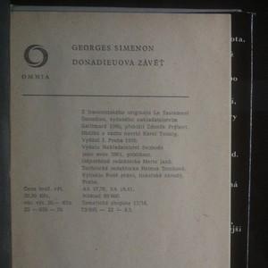 antikvární kniha Donadieuova závěť, 1976