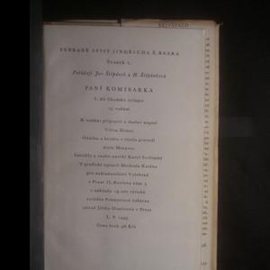 antikvární kniha Paní komisarka. Chodský obrázek z doby předbřeznové, 1949