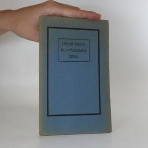 náhled knihy - Bezvýznamná žena
