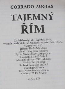 antikvární kniha Tajemný Řím, 2009