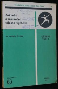náhled knihy - Základní a rekreační tělesná výchova