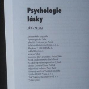 antikvární kniha Psychologie lásky. Osobní rozvoj cestou partnerského vztahu, 2006