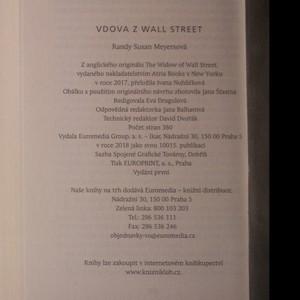 antikvární kniha Vdova z Wall Street, 2018