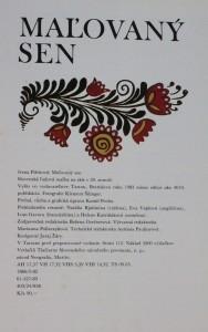antikvární kniha Maľovaný sen : slovenská ľudová maľba na skle v 20. storočí, 1983