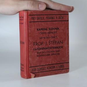 náhled knihy - Kapesní slovník česko-německý a německo-český