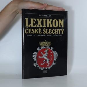 náhled knihy - Lexikon české šlechty