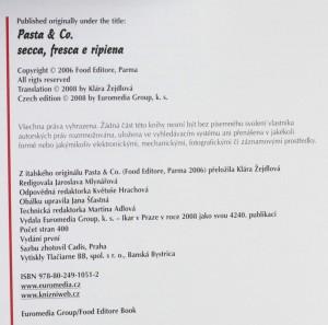 antikvární kniha Těstoviny : sušené, čerstvé a plněné, 2008
