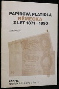 náhled knihy - Papírová platidla Německa z let 1871 -1990