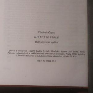 antikvární kniha Historie bible, 1990