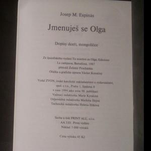 antikvární kniha Jmenuješ se Olga. Dopisy dceři, mongoličce, 1994