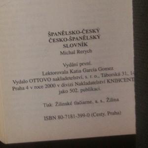 antikvární kniha Španělsko-český, česko-španělský slovník, 2000
