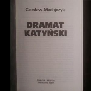 antikvární kniha Dramat katyński, 1989