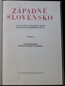 antikvární kniha Západné slovensko  /7, 1980