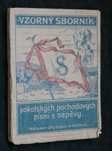 náhled knihy - Vzorný sborník sokolských pochodových písní s nápěvy