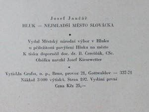 antikvární kniha Hluk nejmladší město Slovácka , 1970