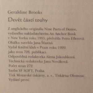 antikvární kniha Devět částí touhy, 1999