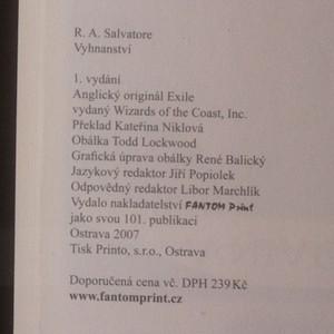 antikvární kniha Temný elf II. Vyhnanství, 2007