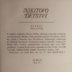 antikvární kniha Nikitovo dětství, 1972