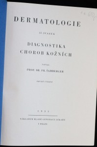 antikvární kniha Dermatologie. II. svazek, Diagnostika chorob kožních, 1935