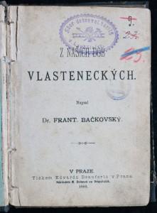 antikvární kniha Z našich dob vlasteneckých, 1886