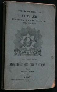 náhled knihy - Starožitnosti dob kovů v Evropě