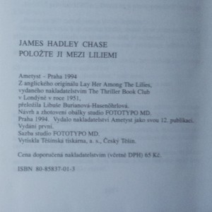 antikvární kniha Položte ji mezi liliemi, 1994